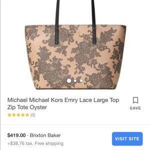 Handbags - Micheal kors emry lace tote